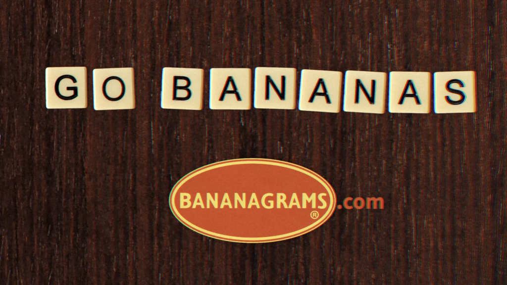 End still from the Bananagrams promotional video.